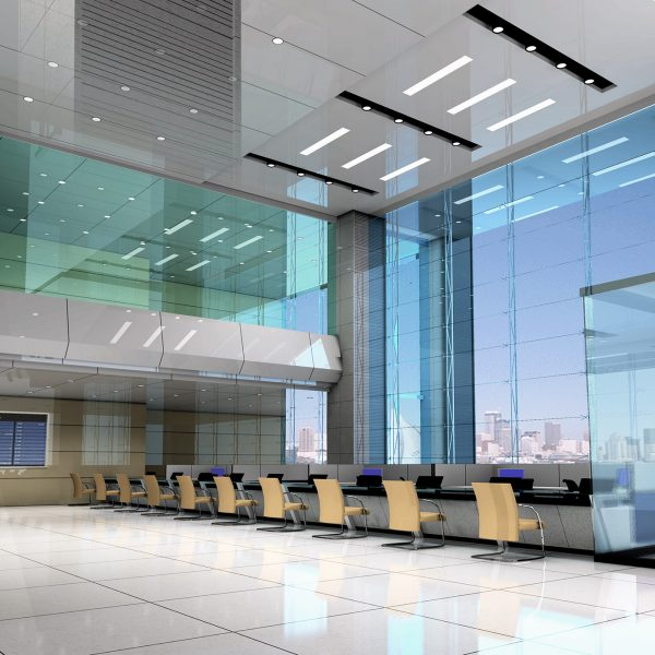 Salão de negócios moderno 3D