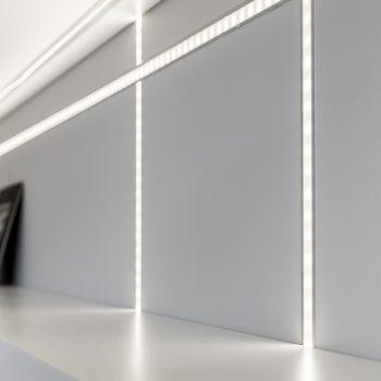 Detalhe de iluminação led