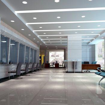 interior design moderno de salão de negócios